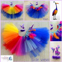 Kevin from Disney's UP  tutu bird tulle skirt head set dress up cake smash photos fancy dress